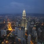 View from the hotel, Petronas Towers in the centre