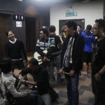 Backstage. STRANGERS (Indonesia), getting ready to play